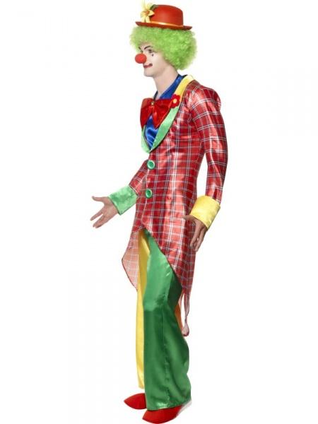 c5b2d0c15a8 Kostým pro vtipné klauny z naší půjčovny kostýmů zahrnuje kostkovaný frak
