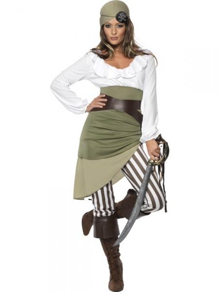 eaf07aa92662 Kostým Pirátka - zelená - Půjčovna kostýmů Anděl